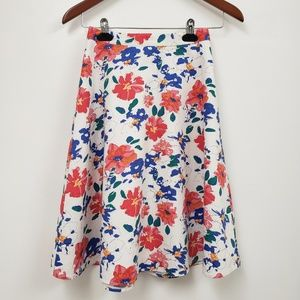 Bright And Pretty Floral Skirt.